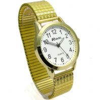 Ravel Men's Super-Clear Quartz Watch with Expanding Bracelet Gold 31 R0230.02.1